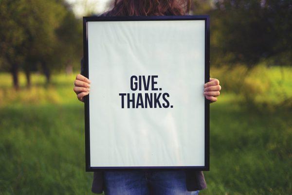 Soyez reconnaissants !